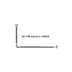 Barra modulable h2o cortina de baño inox249088