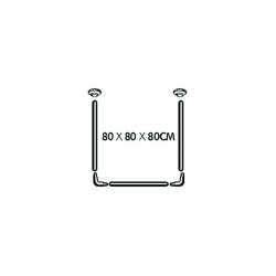 Barra modulable h2o cortina de baño inox249089