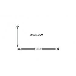 Barra modulable h2o cortina de baño inox249090
