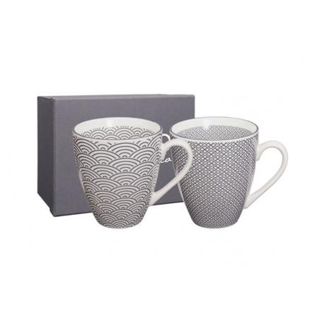 Mug porcelana nippon grey (set 2)