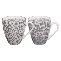 Mug porcelana nippon grey (set 2)