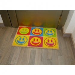 Felpudo coco emoticonos color smile koko doormats
