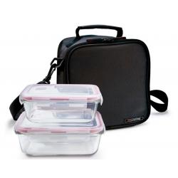 Bolsa porta alimentos iris basic negro contenedores vidrio