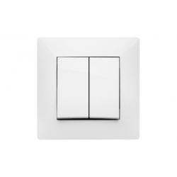 Doble interruptor 10a famatel habitat15 blanco
