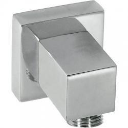 Codo adaptador tres con toma pared para flexo cuadrado 006.183.01
