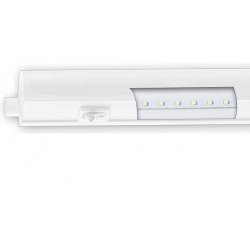 Regleta led integrado con interuptor 55 cm 8w luz fria color blanco