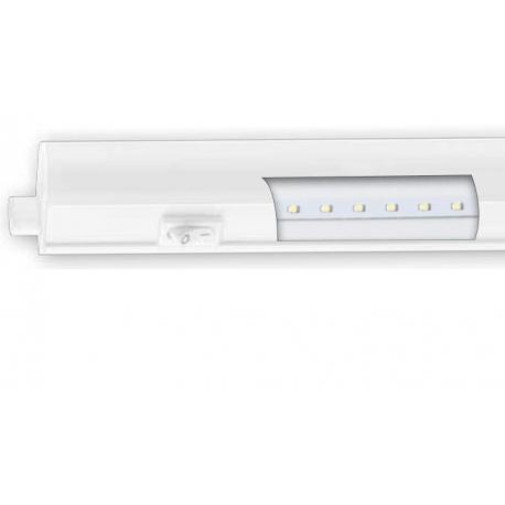 Regleta led matel blanca 16w luz fria 115 cm