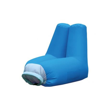 Sillon inflable poliester cloud azul