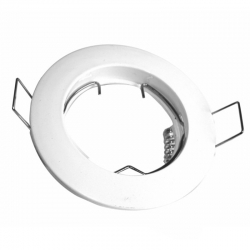 Aro circular fijo blanco con portalamparas gu10 incluido