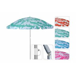 Parasol sombrilla playa ø 156 cm 4 colores surtidos