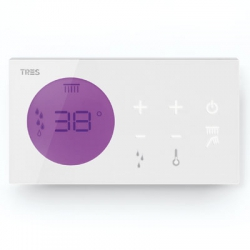 Control termostático electrónico empotrado shower technology