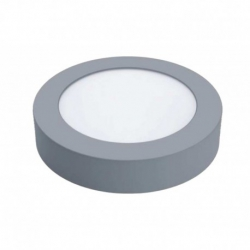 Downlight led superficie matel 18w 1800 lumenes luz fria 6400k sensor plata