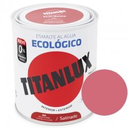 Esmalte al agua ecologico 750 ml titanlux 553 - rojo coral
