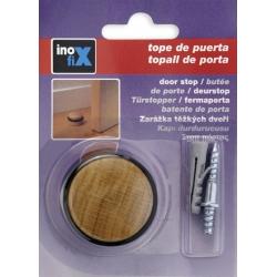 Tope puerta madera con tornillo roble