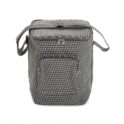 Nevera flexible lunch bag galaxy gris 15 litros
