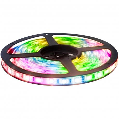Tira led kit 3 metros luz multicolor 14w 12v ip20