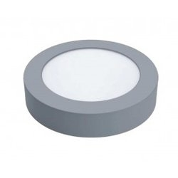 Downlight led superficie matel 6w 600 lumenes luz fria 6400k redondo plata
