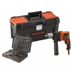 Taladro black&decker 850 w percutor+ kit