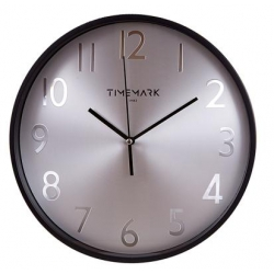 RELOJ DE PARED TIMEMARK METAL Y NEGRO