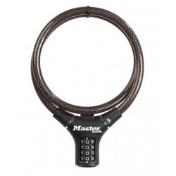 Antirrobo moto combinacion master lock 90 cm negro