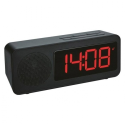 Reloj despertador con radio tfa negro