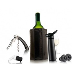 Estuche vino vacuvin essential black