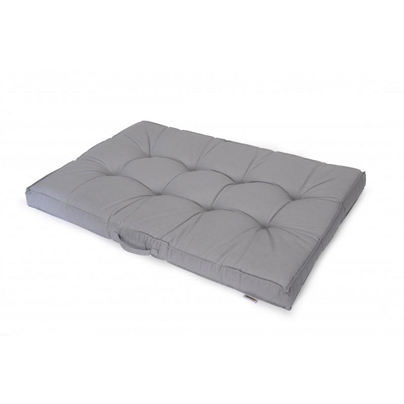 Cojin para palet gris 120x80x10 cm for Cojin para muebles de jardin en palet
