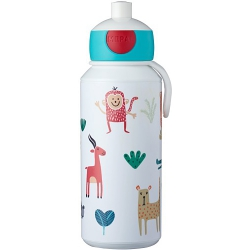 Botella pop-up campus rosti mepal 400 ml animal friends