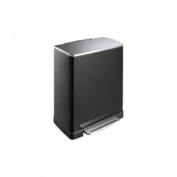 Cubo de reciclaje metalico e-cube 28+18 l negro