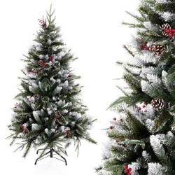Arbol navidad mixto nieve 180 cm pvc