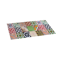 Alfombra vinilica 50 x 110 mosaico color