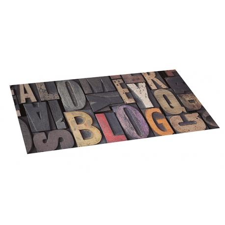Alfombra vinilica 50x110 wood letras