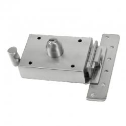 Cerradura inceca 308 golpe y llave derecha llave plana cromada