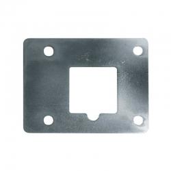 Placa de suplemento inceca para cerraduras de sobreponer cromada
