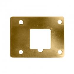 Placa de suplemento inceca para cerraduras de sobreponer latonada