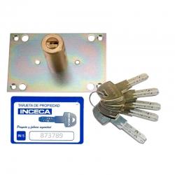 Cilindro inceca para cerraduras 303 304 305 llave in5 cromado