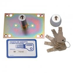 Cilindro inceca para cerraduras de 306 a 312 llave plana cromado
