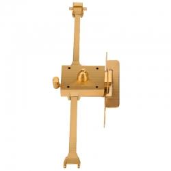 Cerradura inceca 312 barras golpe y llave derecha llave plana latonada