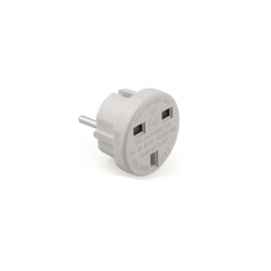 Adaptador plus 10a 4mm europeo a reino unido