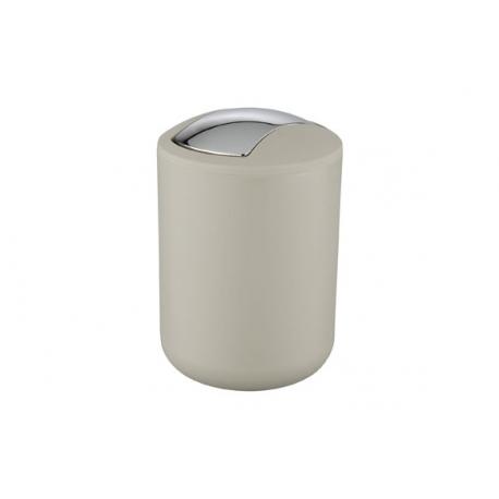 Cubo de baÑo wenko brasil 2 l con tapa abatible taupe