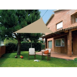 Toldo vela sombreo impermeable triangular marron 3.6 x 3.6 x 3.6 m