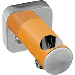 Soporte ducha tres exclusive toma pared naranja 200.182.01.na