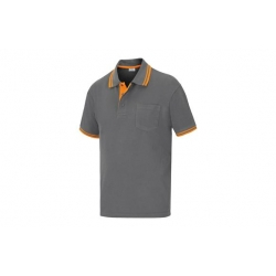 Polo pique m/corta elite stretch gris tm