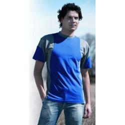 Camiseta manga corta algodon juba 930 l azul