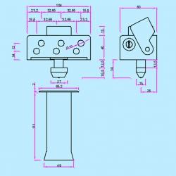 Dispositivo de seguridad inceca 204 con tubo suelo y llave plana272848