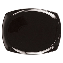 Bandeja porcelana 33 cm rectangular lotto negra