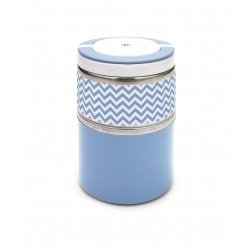Termo solidos iris lunchbox doble azul