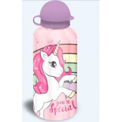 Botella aluminio unicornio 500 ml
