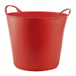 Cubo flexible multiusos 26 lt rojo