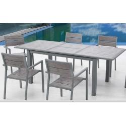 Mesa aluminio extensible dark 152-210x90 cm